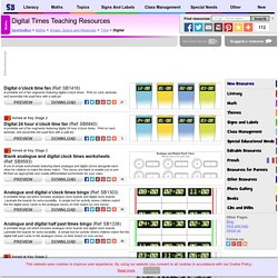 Digital Times Primary Teaching Resources and Printables