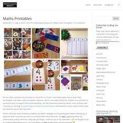 Maths Printables - Stimulating Learning