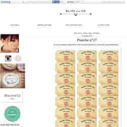 Printables : Tous les messages sur Printables - Bliss and Co ~ Blog