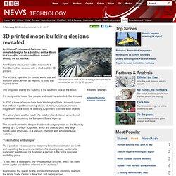 3D printed moon building designs revealed