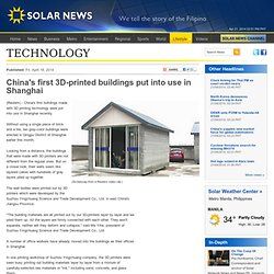 China's first 3D-printed buildings put into use in Shanghai - Solar News