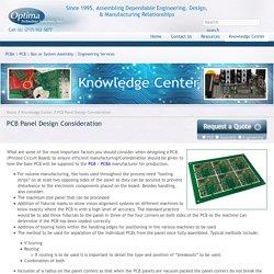 PCB (Printed Circuit Board) Panel Design Consideration