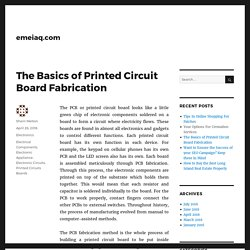 The Basics of Printed Circuit Board Fabrication