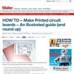 HOW TO – Make Printed circuit boards – An illustrated guide (and round up)
