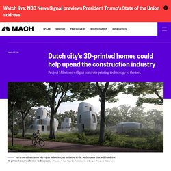 Dutch city's 3D-printed homes could help upend the construction industry