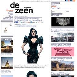 3D-printed dress for Dita Von Teese