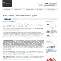 Printed Electronics Market worth $40.2 Billion by 2020 /PR Newswire UK/