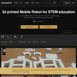 3d printed Mobile Robot for STEM education