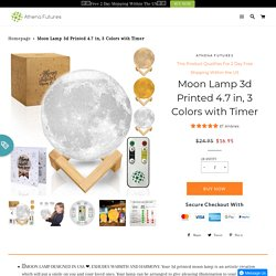 Buy 3D Printed 4.7 Inch Moon Lamp Online From Athena Futures – Athena Futures Inc.