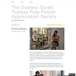 Printed Matter « The Outdoor Co-ed Topless Pulp Fiction Appreciation Society