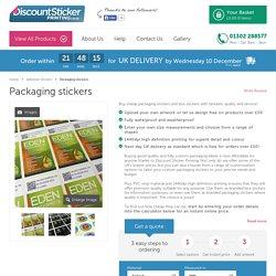 Printed Custom Packaging Stickers & Box Stickers Buy Online