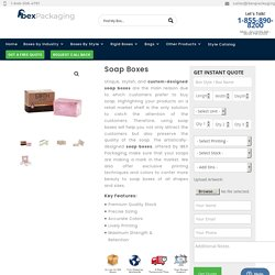 Printed Soap Packaging Boxes Wholesale