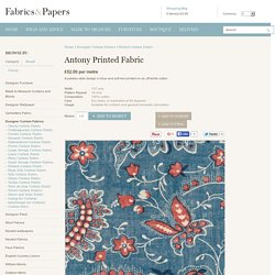 Antony Printed Paisley Cotton Fabric