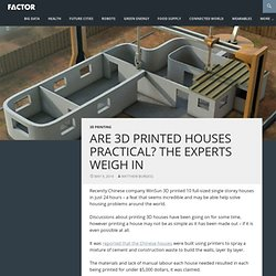 Are 3D printed houses practical? The experts weigh in