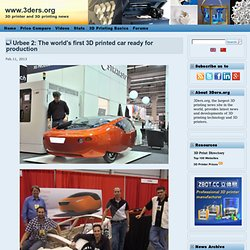 Urbee 2: The world's first 3D printed car ready for production