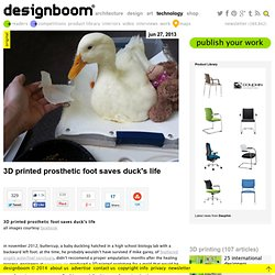 3D printed prosthetic foot saves duck's life