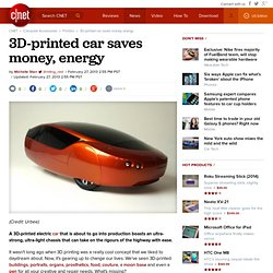 3D-printed car saves money, energy