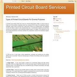 Printed Circuit Board Services: Types of Printed Circuit Boards For Diverse Purposes