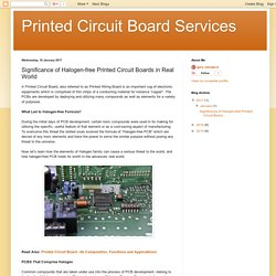 Printed Circuit Board Services: Significance of Halogen-free Printed Circuit Boards in Real World