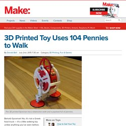 3D Printed Toy Uses 104 Pennies to Walk