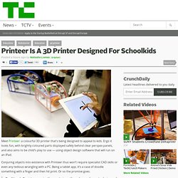 Printeer Is A 3D Printer Designed For Schoolkids