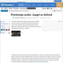 Printemps arabe: Juppé se défend