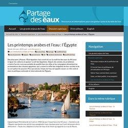 Les printemps arabes et l'eau : l'Égypte - Partage des eaux