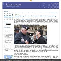 Il y a du Printemps dans l'air … ! La Banderole «Hollande-Démission.fr» dérange encore.