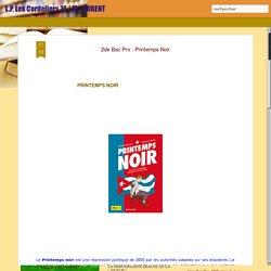 L.P. Les Cordeliers 74 / M. LAURENT: 2de Bac Pro : Printemps Noir