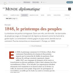 1848, le printemps des peuples, par Alain Garrigou (Le Monde diplomatique, mai 2011)