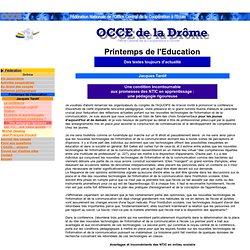 OCCE 26 - Printemps de l'Education - J Tardif / Une pédagogie rigoureuse