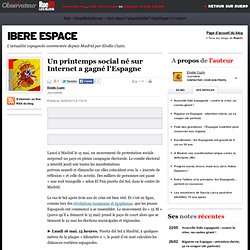 Un printemps social né sur Internet gagne l'Espagne
