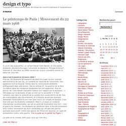 Mouvement du 22 mars 1968 – design et typo
