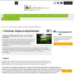 Printemps, fatigue et phytothérapie