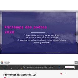 Printemps des poetes_v2 by laetitia.boini on Genial.ly