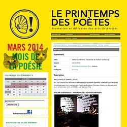 PRINTEMPSDESPOETES.ca - Autres - Atelier-Conférence : Panorama de l'édition numérique