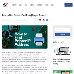 How to Find Printer IP Address [Proper Guide] - StuffRoots