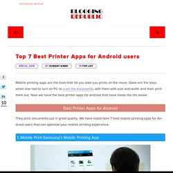 Top 7 Best Printer Apps for Android - Mobile Printing Apps [UPDATED]