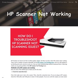 Printer Answers - HP Scanner Not Working
