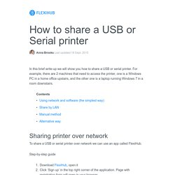 How to share a printer between two computers - 4 ways