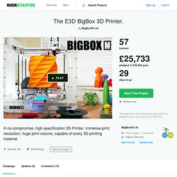 BigBox: THE Open Source Hi-Spec Desktop 3D Printer! by BigBox3D Ltd