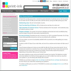 Printer ink and toner cartridges with first class customer service