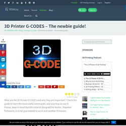 Most used 3D Printer G-Codes - Commands detailed