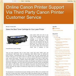 Select the Best Toner Cartridge for Your Laser Printer: Canon Printer Support