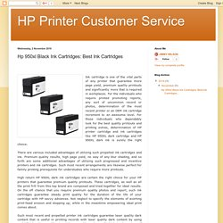 HP Printer Customer Service: Hp 950xl Black Ink Cartridges: Best Ink Cartridges