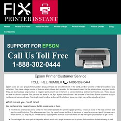 Epson Printer Customer Service 1-888-738-4333 Helpline care Number