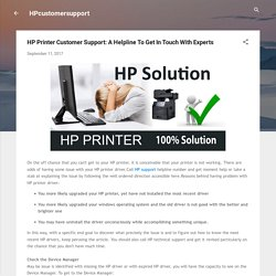 HP Printer Customer Support: A Helpline To Get In Touch With Experts