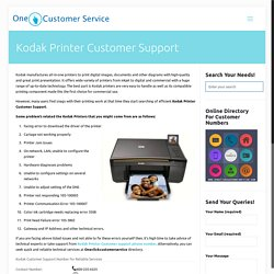 Kodak Printer customer support number for Driver installation