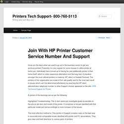 Join With HP Printer Customer Service Number And Support