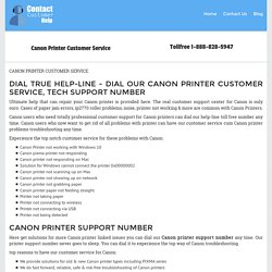 Canon Printer Customer Service 1-888-777-0689 Tech Support Number